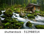 old mill near golling an der... | Shutterstock . vector #512988514