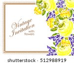 abstract flower background with ... | Shutterstock .eps vector #512988919