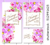 romantic invitation. wedding ... | Shutterstock .eps vector #512991625