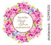 romantic invitation. wedding ... | Shutterstock .eps vector #512993131