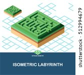 extrude isometric labyrinth... | Shutterstock .eps vector #512994679