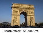 parisian traffic and the arch... | Shutterstock . vector #513000295