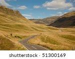 scottish highland pass through...