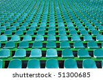 rows of green chairs on a... | Shutterstock . vector #51300685