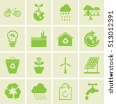 ecology icons set | Shutterstock .eps vector #513012391
