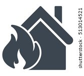realty fire disaster vector... | Shutterstock .eps vector #513014521