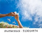 toast with champagne glasses... | Shutterstock . vector #513014974