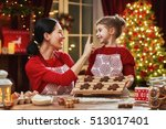 merry christmas and happy... | Shutterstock . vector #513017401