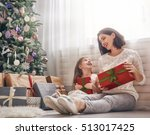 merry christmas and happy... | Shutterstock . vector #513017425