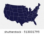 usa map | Shutterstock .eps vector #513031795