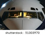 aircraft with night lighting | Shutterstock . vector #51303970