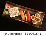 different kinds of sushi | Shutterstock . vector #513041641