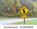 Horizontal Elk Crossing Traffi...