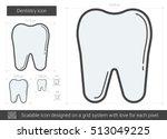 dentistry vector line icon...