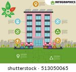 eco apartment house infographic.... | Shutterstock .eps vector #513050065
