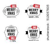 merry christmas sale design... | Shutterstock .eps vector #513057835