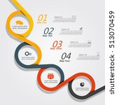 infographic design template... | Shutterstock .eps vector #513070459