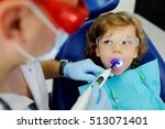 pediatric dentist man makes... | Shutterstock . vector #513071401