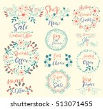 special offer.limited.shop now... | Shutterstock .eps vector #513071455