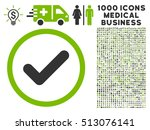 eco green and gray yes vector... | Shutterstock .eps vector #513076141