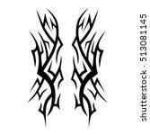 tribal tattoos design element....   Shutterstock .eps vector #513081145