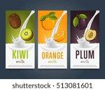 milkshake concept with milk... | Shutterstock .eps vector #513081601