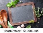 blackboard for your text  fresh ... | Shutterstock . vector #513083605