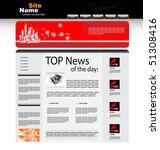 vector web template | Shutterstock .eps vector #51308416