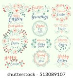 celebrate easter.happy.... | Shutterstock .eps vector #513089107