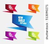 web sale banner | Shutterstock .eps vector #513090271