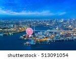 osaka bay at dusk  osaka japan | Shutterstock . vector #513091054