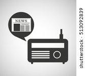 radio icon news bubble speech... | Shutterstock .eps vector #513092839