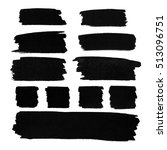 black watercolor stains set | Shutterstock . vector #513096751