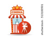 cinema movie ticket office.... | Shutterstock .eps vector #513100501