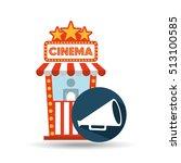 cinema movie ticket office.... | Shutterstock .eps vector #513100585