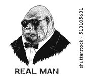 steep gorilla like a real man... | Shutterstock .eps vector #513105631