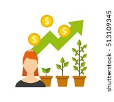 business growth funds flat... | Shutterstock .eps vector #513109345