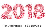 2018 happy new year red and... | Shutterstock .eps vector #513109351