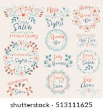 professional stylist... | Shutterstock .eps vector #513111625