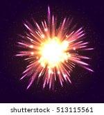 neon glow light effect on dark... | Shutterstock .eps vector #513115561