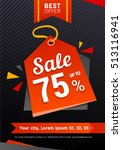 vector black friday sale poster | Shutterstock .eps vector #513116941