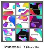 fluid colors banners set.... | Shutterstock .eps vector #513122461