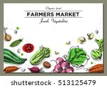 templates for label design with ... | Shutterstock .eps vector #513125479