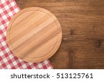 cutting board with tablecloth... | Shutterstock . vector #513125761