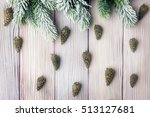 xmas background with fir tree... | Shutterstock . vector #513127681