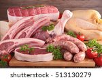 raw meat | Shutterstock . vector #513130279