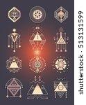 vector set of sacred geometry.... | Shutterstock .eps vector #513131599