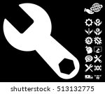 wrench pictograph with bonus...   Shutterstock . vector #513132775