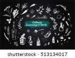 culinary seasonings   herbs.... | Shutterstock .eps vector #513134017