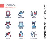 medical set   modern vector... | Shutterstock .eps vector #513142729